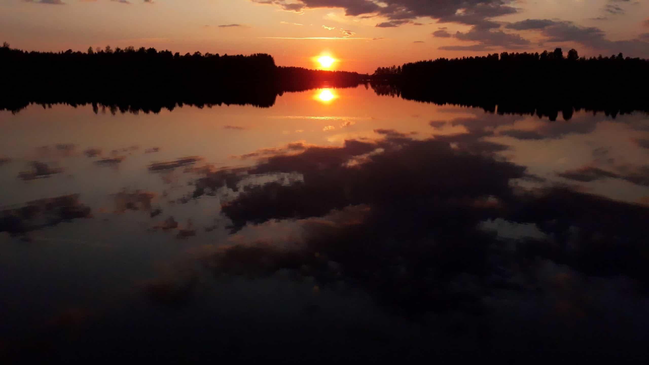Upea auringonlasku.